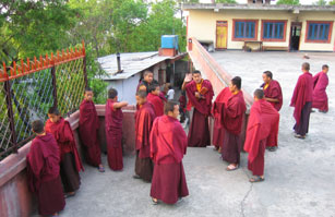 Monks at the monastery
